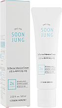 Düfte, Parfümerie und Kosmetik Feuchtigkeitsspendende und beruhigende Gesichtscreme für geschädigte und gereizte Haut - Etude House Soon Jung 2x Barrier Intensive Cream