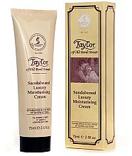 Düfte, Parfümerie und Kosmetik Feuchtigkeitsspendende Gesichtscreme mit Sandelholz - Taylor of Old Bond Street Sandalwood Moisturising Cream