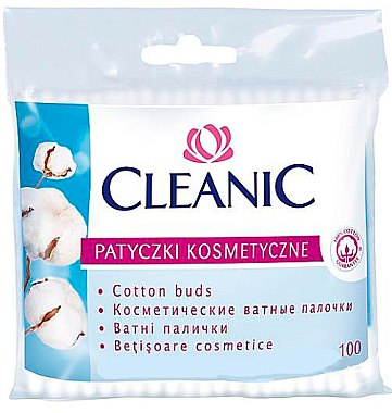 Wattestäbchen in Polyethylen-Verpackung 100 St. - Cleanic Face Care Cotton Buds