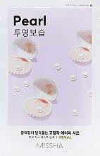 Düfte, Parfümerie und Kosmetik Tuchmaske für das Gesicht mit Perlenextrakt - Missha Airy Fit Pearl Sheet Mask
