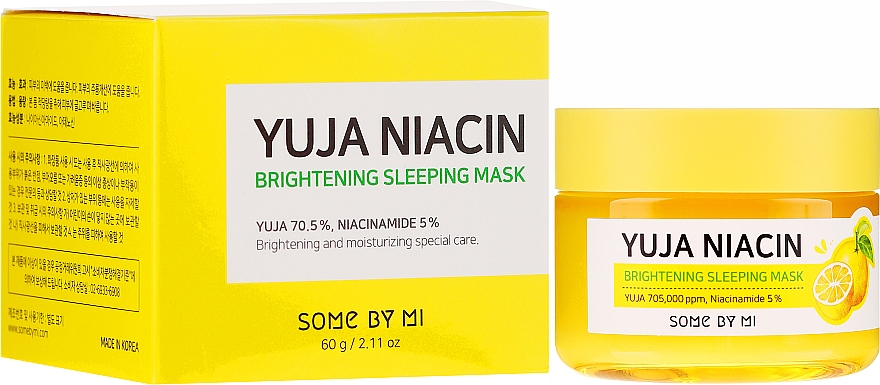 Aufhellende Gesichtsmaske für die Nacht - Some By Mi Yuja Niacin Brightening Sleeping