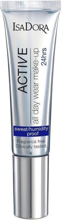 Langanhaltende parfümfreie Foundation - IsaDora Active All Day Wear Make-Up 24hrs Foundation