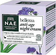 Düfte, Parfümerie und Kosmetik Anti-Aging Nachtcreme mit Seelavendelextrakt, Aloe Vera und Hyaluronsäure - N.A.E. Bellezza Anti-Age Night Cream