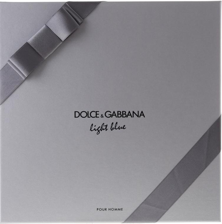 Dolce & Gabbana Light Blue Pour Homme - Duftset (Eau de Toilette 125ml + Duschgel 50ml + After Shave Balsam 75ml) — Bild N2