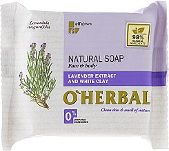 Düfte, Parfümerie und Kosmetik Naturseife für Gesicht und Körper mit Lavendelextrakt und weißer Tonerde - O'Herbal Natural Soap