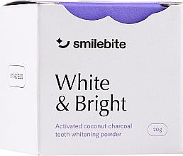 Düfte, Parfümerie und Kosmetik Zahnaufhellungspulver mit Kokoskohle - Smilebite White & Brigh Coconut Charcoal Teeth Whitening Powder