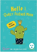 Düfte, Parfümerie und Kosmetik Beruhigende Tuchmaske für das Gesicht mit Kaktusextrakt - Quret Hello Friends Cactus Mask