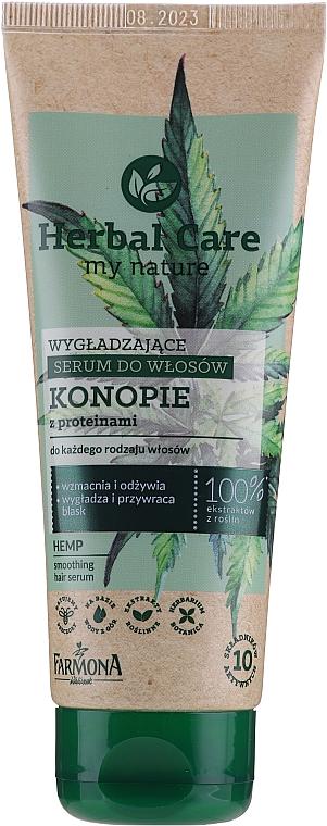 Glättendes Haarserum mit Hanföl und Proteinen - Farmona Herbal Care Smoothing Hair Serum with Hemp Oil and Protein