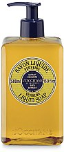 Düfte, Parfümerie und Kosmetik Flüssigseife mit Shea- und Eisenkraut-Extrakt - L'Occitane Verbena Liquid Soap