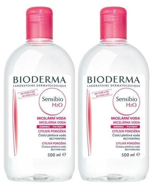 Gesichtspflegeset - Bioderma Sensibio H2O (Mizellen-Reinigungswasser 2x500ml)