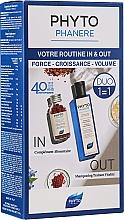Düfte, Parfümerie und Kosmetik Haarpflegeset - Phyto Phytophanere (Haarshampoo 250ml + Nahrungsergänzungsmittel Kapseln für Haare und Nägel 120 St.)