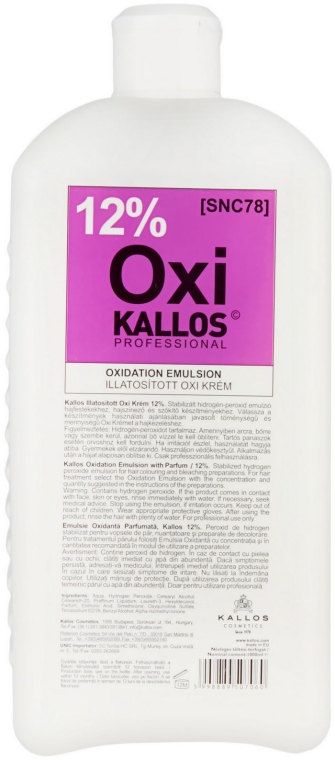 Oxidationsmittel 12% - Kallos Cosmetics OXI Oxidation Emulsion With Parfum — Bild N1