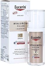 Düfte, Parfümerie und Kosmetik Anti-Aging Gesichtsserum mit Hyaluronsäure gegen Altersflecken, für mehr Hautelastizität für reife Haut - Eucerin Hyaluron-Filler + Elasticity Anti-Age 3D Serum