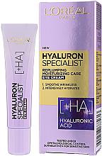 Düfte, Parfümerie und Kosmetik Feuchtigkeitsspendende Anti-Falten Creme für die Augenpartie mit Hyaluronsäure - L'Oreal Paris Skin Expert