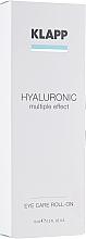 Düfte, Parfümerie und Kosmetik Roll-on für die Augenpartie mit Hyaluronsäure - Klapp Hyaluronic Eye Roll-On