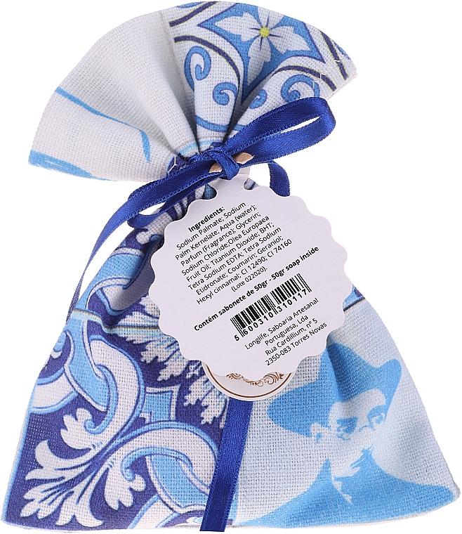 Handgemachtes Duftsäckchen mit Seife weiß-blau Lavendel - Essencias De Portugal Tradition Charm Air Freshener — Bild N2