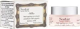 Düfte, Parfümerie und Kosmetik Anti-Aging Augencreme mit Bio Eselsmilch - Sostar Anti-Aging Eye Cream Enriched With Donkey Milk