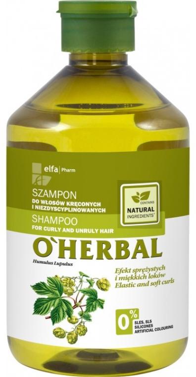 Shampoo für lockiges und widerspenstiges Haar mit Hopfenextrakt - O'Herbal — Bild N3