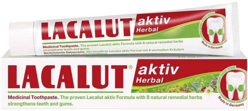 Zahnpasta zur Stärkung von Zähnen und Zahnfleisch - Lacalut Aktiv Herbal Toothpaste
