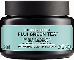 Düfte, Parfümerie und Kosmetik Erfrischendes Peeling-Shampoo mit grünem Tee für normale bis fettige Kopfhaut - The Body Shop Fuji Green Tea Cleansing Hair Scrub
