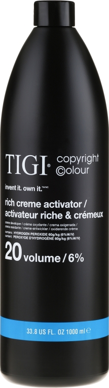 Entwicklerlotion 6% - TIGI Colour Activator 20 vol / 6% — Bild N1