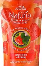 Düfte, Parfümerie und Kosmetik Handseife Erdbeere - Joanna Naturia Body Strawberry Liquid Soap (Refill)