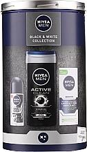 Düfte, Parfümerie und Kosmetik Gesichts- und Körperpflegeset - Nivea Black & White Collection 2020 (Gesichtscreme 75ml + Deo Roll-on Antiperspirant 50ml + Duschgel 250ml)