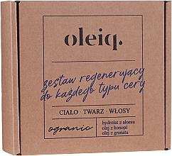 Düfte, Parfümerie und Kosmetik Gesichts-, Körper- und Haarpflegeset - Oleiq (Hydrolat für Gesicht, Körper und Haare 100ml + Hanfsamenöl für Körper und Haar 100ml + Granatapfelkernenöl für Gesicht 30ml)