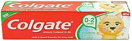 Düfte, Parfümerie und Kosmetik Kinderzahnpasta 0-2 Jahre mit Erdbeergeschmack - Colgate Strawberry Kids Tooth Paste