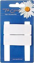 Düfte, Parfümerie und Kosmetik Haarspange White Collection rechteckig weiß 2 St. - Top Choice