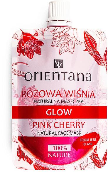 Natürliche Gesichtsmaske mit Kirschenextrakt, Hyaluronsäure und Rosenwasser - Orientana Glow Natural Face Mask Pink Cherry