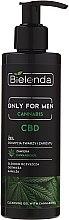 Düfte, Parfümerie und Kosmetik Reinigungsgel mit Cannabidiol für Gesicht und Bart - Bielenda Only For Men Cannabis CBD Cleansing Gel