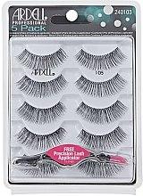 Düfte, Parfümerie und Kosmetik Set Künstliche Wimpern und Wimpernapplikator - Ardell Black Lashes 105