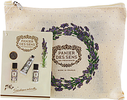 Düfte, Parfümerie und Kosmetik Körperpflegeset - Panier des Sens Travel set Relaxing Lavender (Handcreme 30ml + Duschgel 50ml + Körperlotion 50ml)