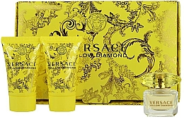 Düfte, Parfümerie und Kosmetik Versace Yellow Diamond - Set(edt/5ml + b/lot/25ml + sh/gel/25ml)