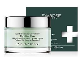 Düfte, Parfümerie und Kosmetik Straffende Gesichtsmaske mit Hyaluronsäure - Symbiosis London Age Illuminating Cannabidiol Eight Hour Mask