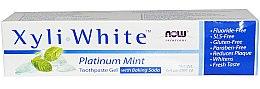 Düfte, Parfümerie und Kosmetik Fluoridfreies Zahnpasta-Gel mit Backpulver und Minze - Now Foods XyliWhite Toothpaste Gel