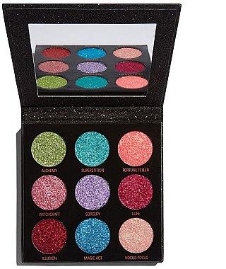 Lidschattenpalette mit Glitzer - Makeup Revolution Pressed Glitter Palette Abracadabra