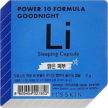 Düfte, Parfümerie und Kosmetik Anti-Aging Schlafmaske für das Gesicht in einer Power-Kapse - It's Skin Power 10 Formula Goodnight Li Sleeping Capsule