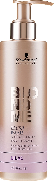 Sulfatfreies Shampoo für blonde Farbkorrektur mit Pastelleffekten in lila - Schwarzkopf Professional Blond Me Blush Wash Lilac