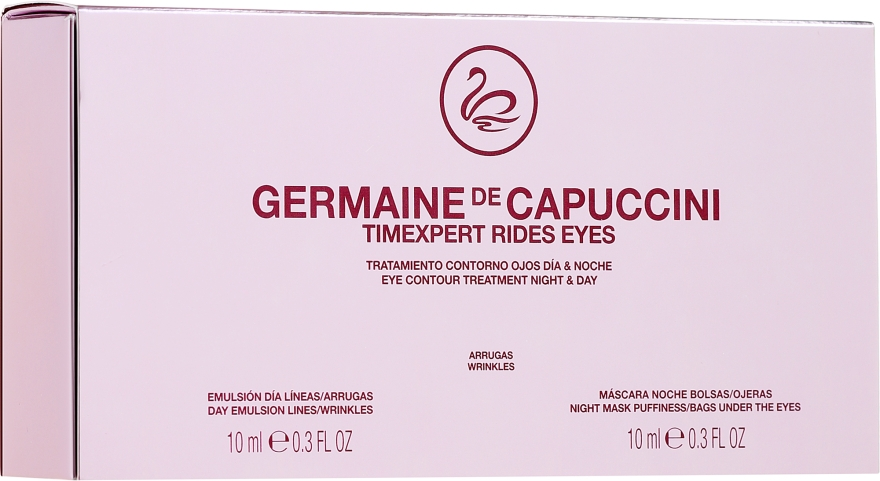 Anti-Falten Augencreme für Tag und Nacht - Germaine de Capuccini Timexpert Rides Eye Contour Treatment Night & Day (2 x 10 ml) — Bild N1
