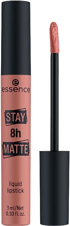 Flüssiger langanhaltender Lippenstift mit mattem Finish - Essence Stay 8H Matte Liquid Lipstick