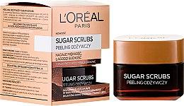 Düfte, Parfümerie und Kosmetik Pflegendes Zuckerpeeling für das Gesicht mit Kakaobutter - L'Oreal Paris Sugar Scrubs