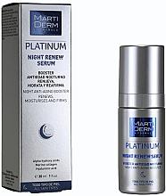 Düfte, Parfümerie und Kosmetik Erneuernder, feuchtigkeitsspendender und straffender Gesichtsserum-Booster für die Nacht - MartiDerm Platinum Night Renew Serum