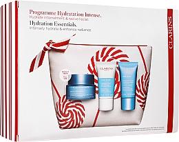 Düfte, Parfümerie und Kosmetik Gesichtspflegeset - Clarins Hydra-Essentiel Christmas Set (Gesichtscreme 50ml + Gesichtspeeling 15ml + Gesichtsmaske 15ml + Kosmetiktasche)