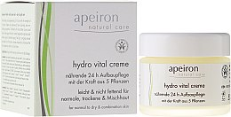 Düfte, Parfümerie und Kosmetik Nährende 24h-Gesichtscreme für normale, trockene und Mischhaut - Apeiron Hydro Vital 24h Nourishing&Regenerating Cream