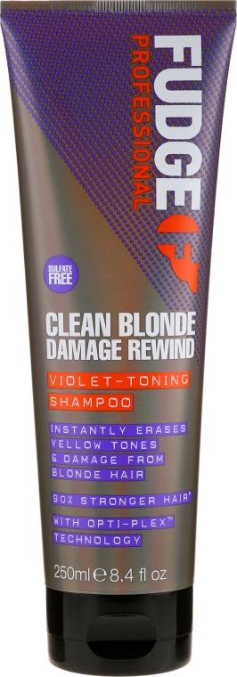 Hochpigmentiertes Silbershampoo - Fudge Clean Blonde Damage Rewind Shampoo