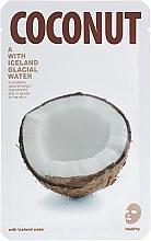 Düfte, Parfümerie und Kosmetik Tuchmaske für das Gesicht mit Kokosnuss und Islandwasser - The Iceland Coconut Mask
