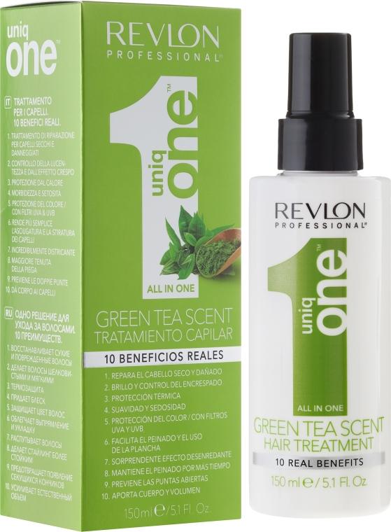 Spraymaske für trockenes und geschädigtes Haar mit grünem Teeduft - Revlon Professional Uniq One Green Tea Scent Hair Treatment