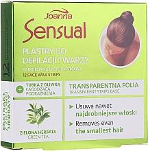 Düfte, Parfümerie und Kosmetik Enthaarungswachsstreifen mit Grüntee-Extrakt für das Gesicht - Joanna Sensual Depilatory Face Strips With Green Tea Extract